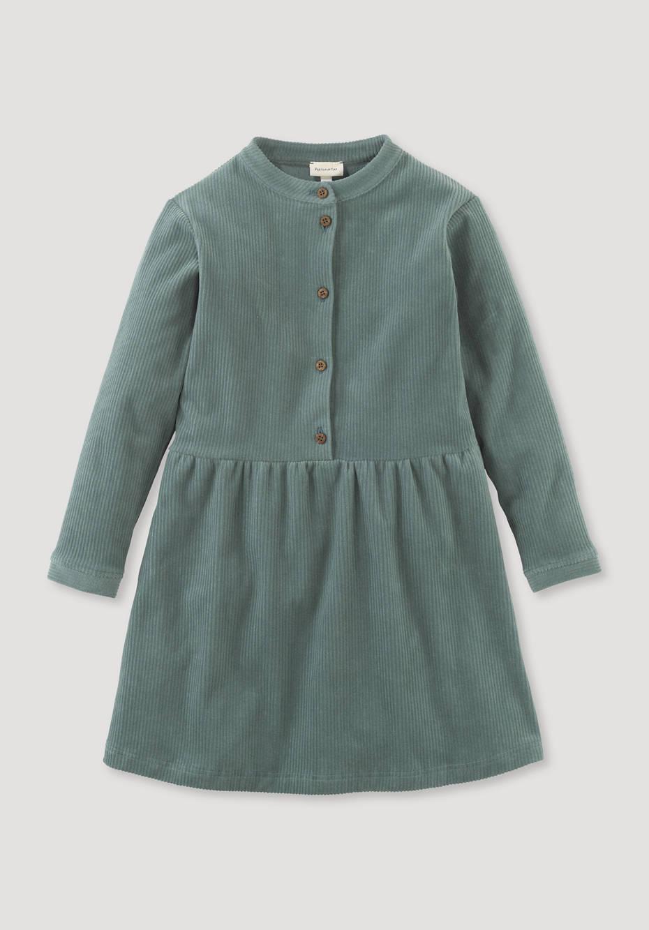 Jerseycordkleid aus reiner Bio-Baumwolle
