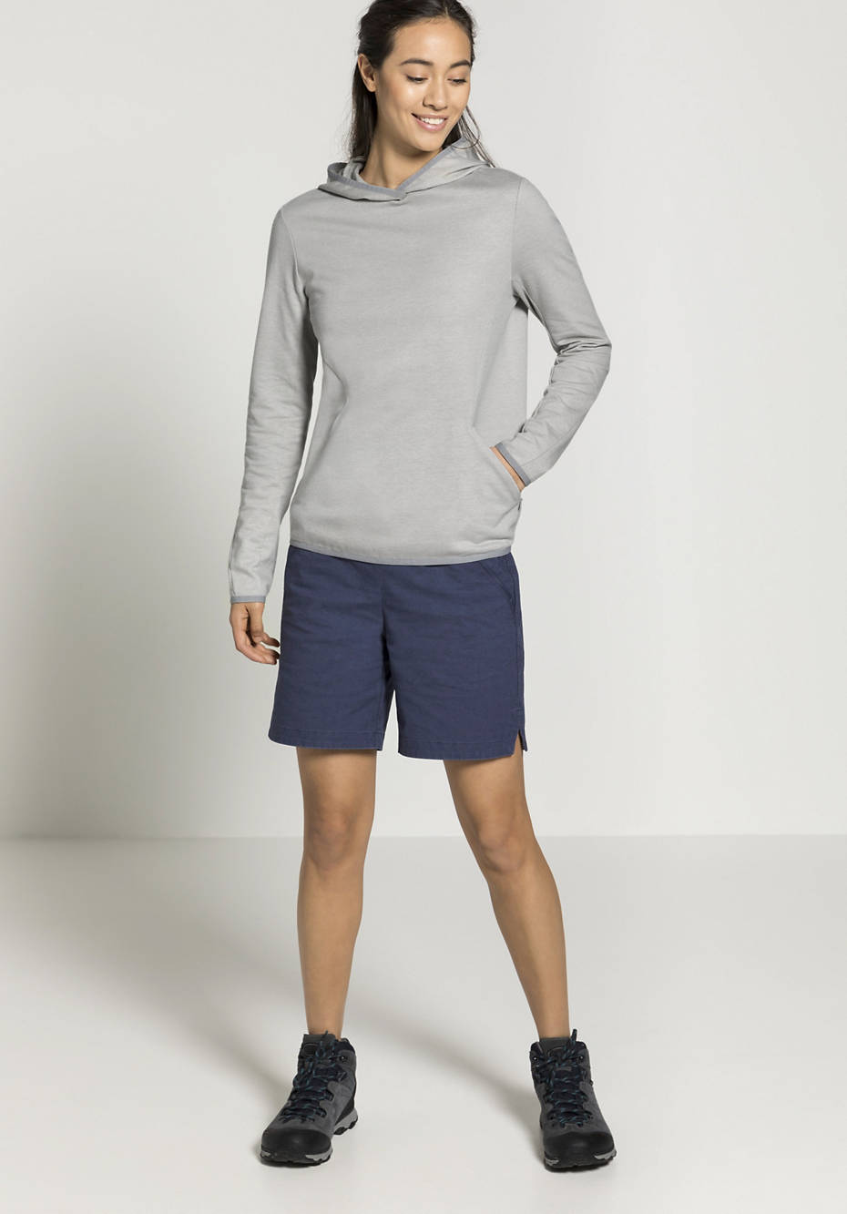 Kapuzen-Sweatshirt aus Bio-Baumwolle mit Hanf