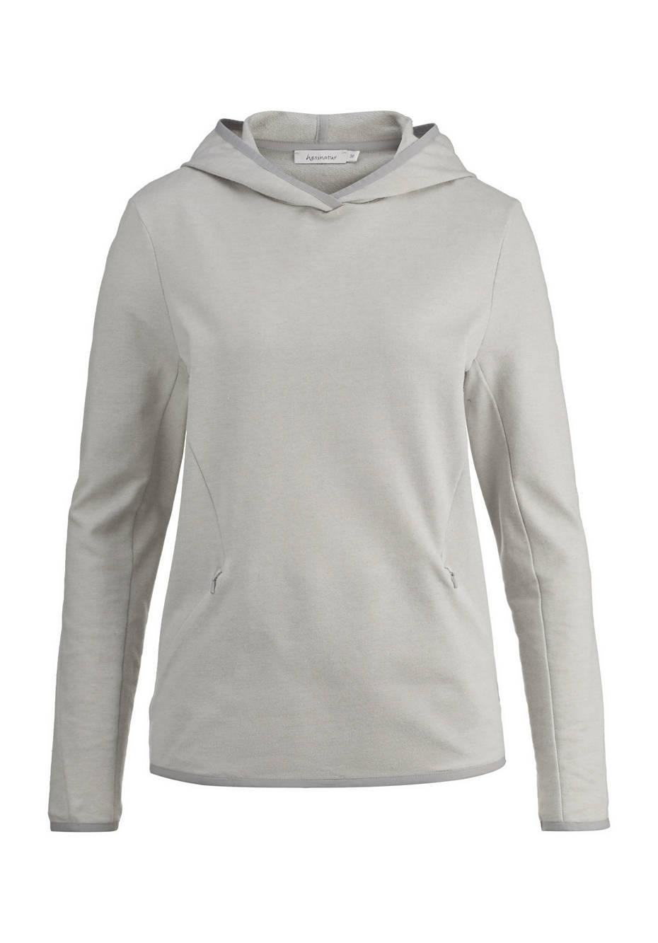 Kapuzen-Sweatshirt aus Bio-Baumwolle mit Hanf und Schurwolle