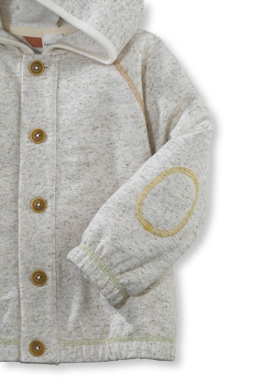 Kapuzenjacke aus Bio-Baumwolle mit Hanf und Schurwolle