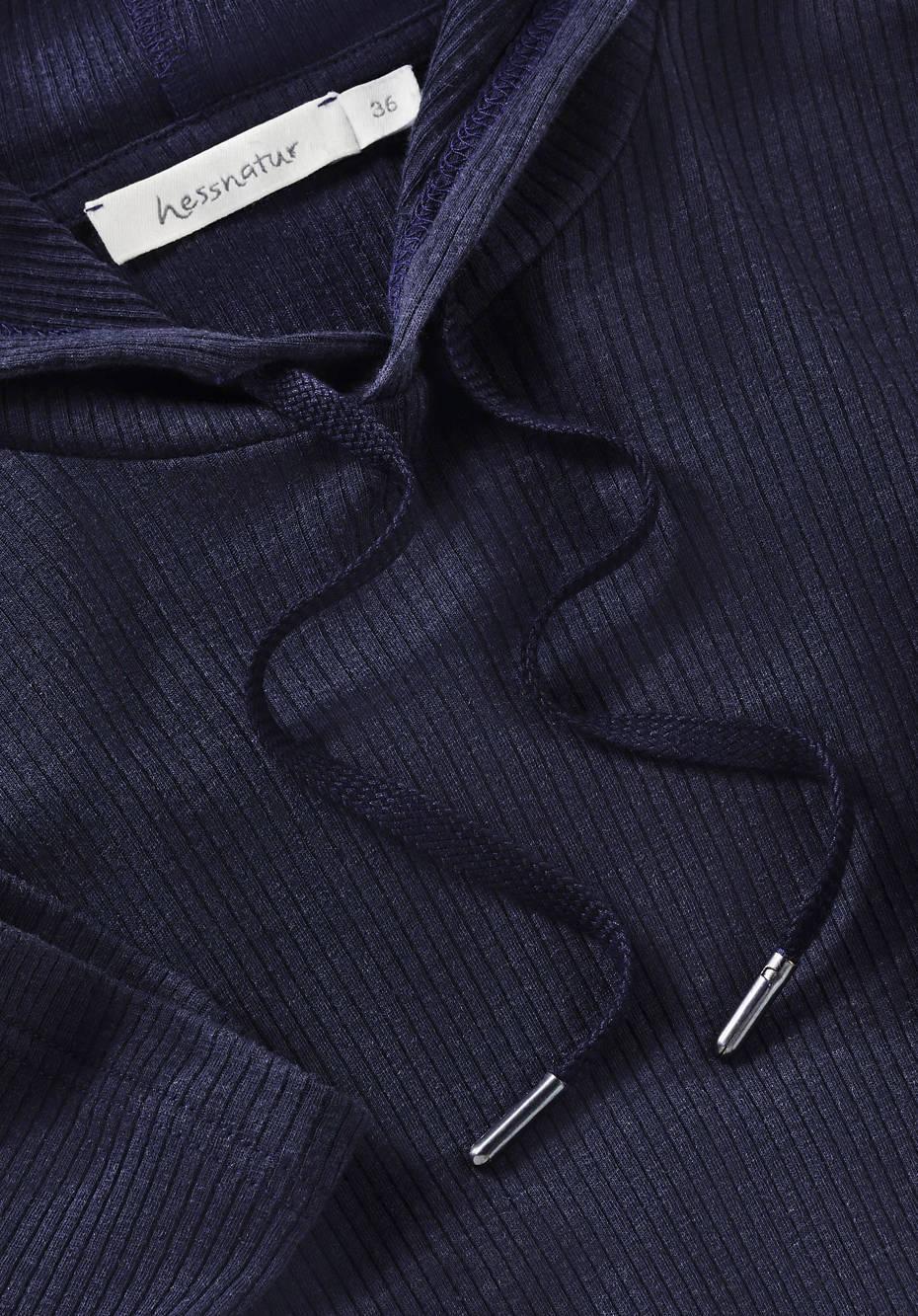 Kapuzenshirt aus Bio-Baumwolle mit Merinowolle