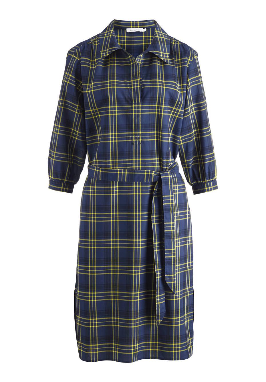 Karo-Kleid aus reiner Bio-Baumwolle