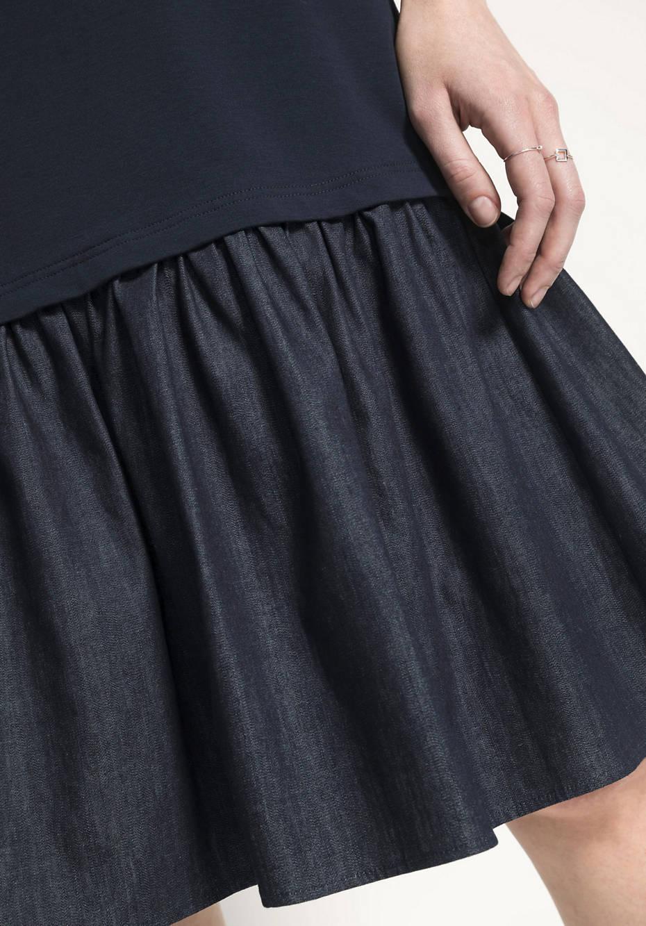 Kleid aus Bio-Baumwolle mit Modal