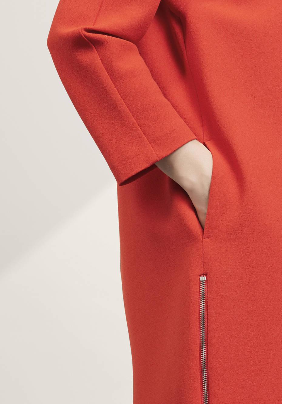Kleid aus Modal mit Schurwolle