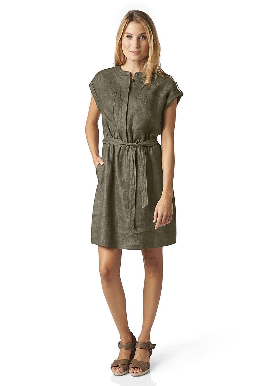 Kleid aus reinem Bio-Leinen