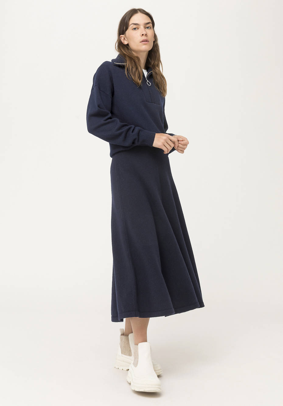 Knitted skirt made of pure lambswool