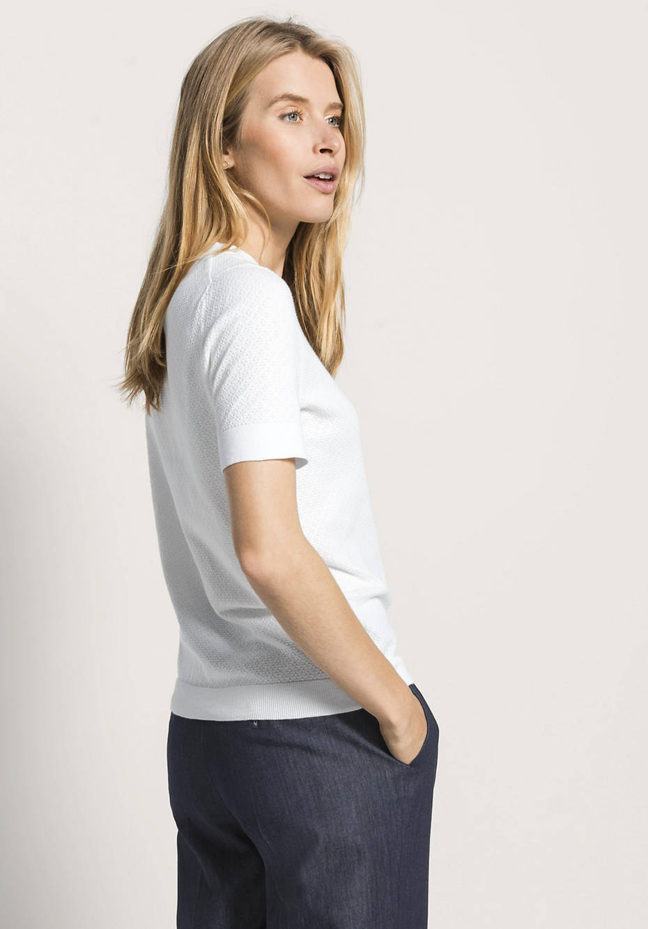 Kurzarm-Pullover aus reiner Bio-Baumwolle