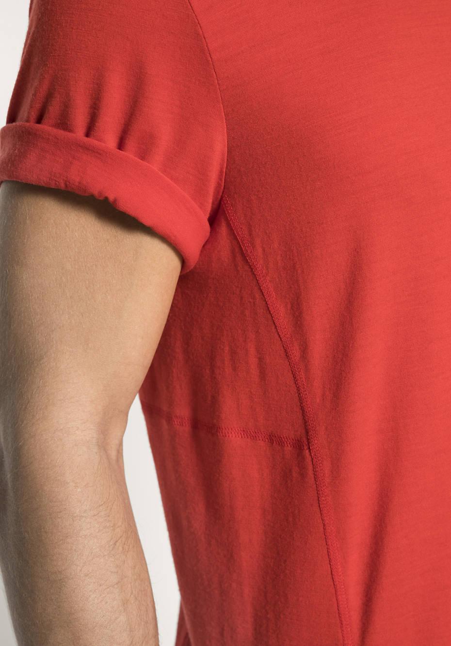 Kurzarm-Shirt für Ihn aus reiner Merinowolle