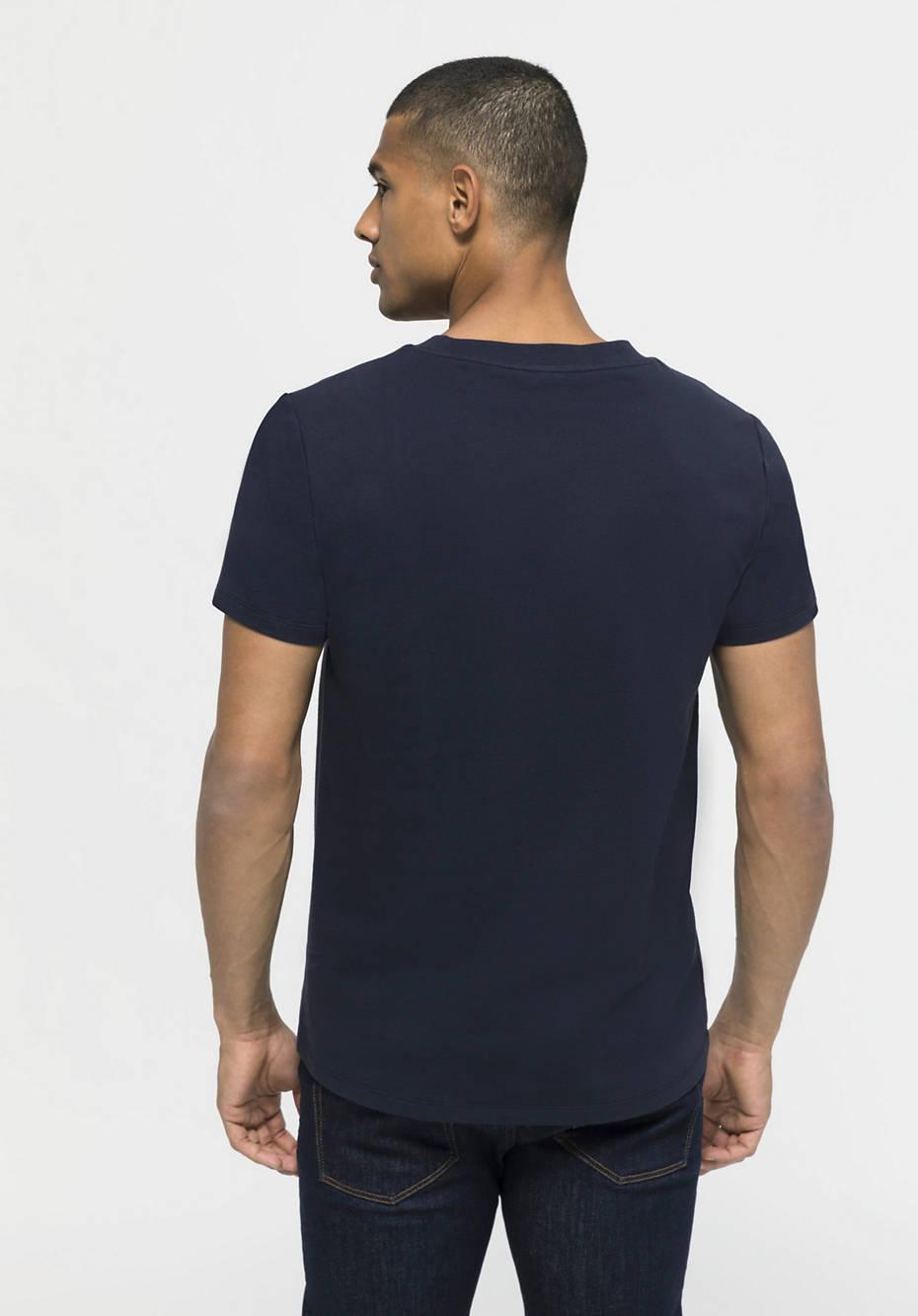 Kurzarm-Sweatshirt aus Bio-Baumwolle mit Kapok
