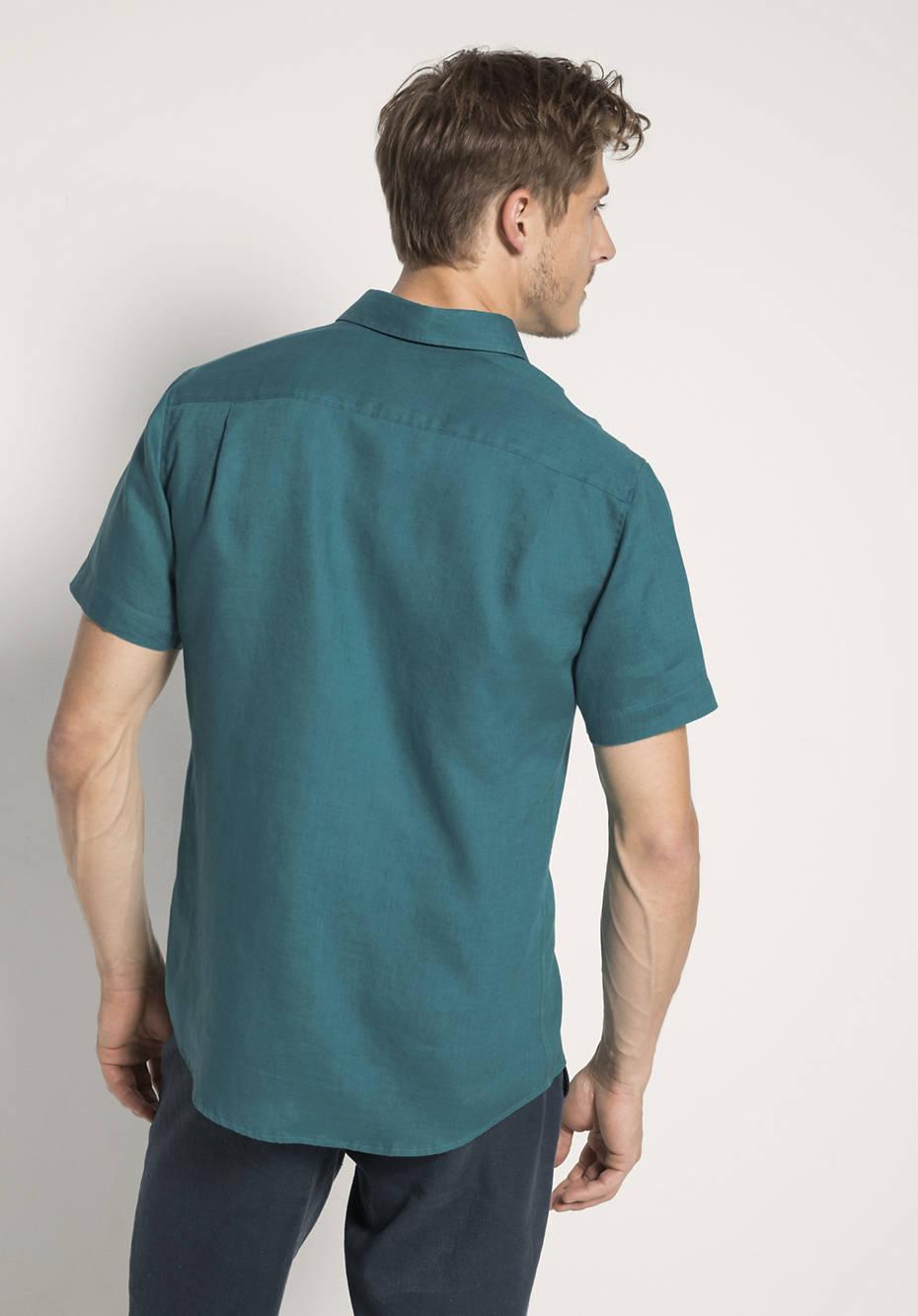 Kurzarmhemd Modern Fit aus reinem Leinen