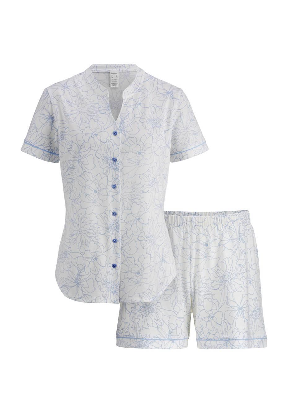 Kurzer Pyjama aus reiner Bio-Baumwolle
