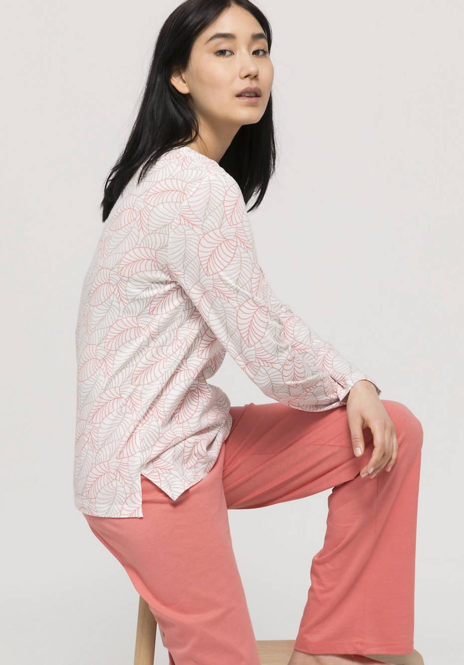 Langarm-Shirt aus Bio-Baumwolle mit Seide