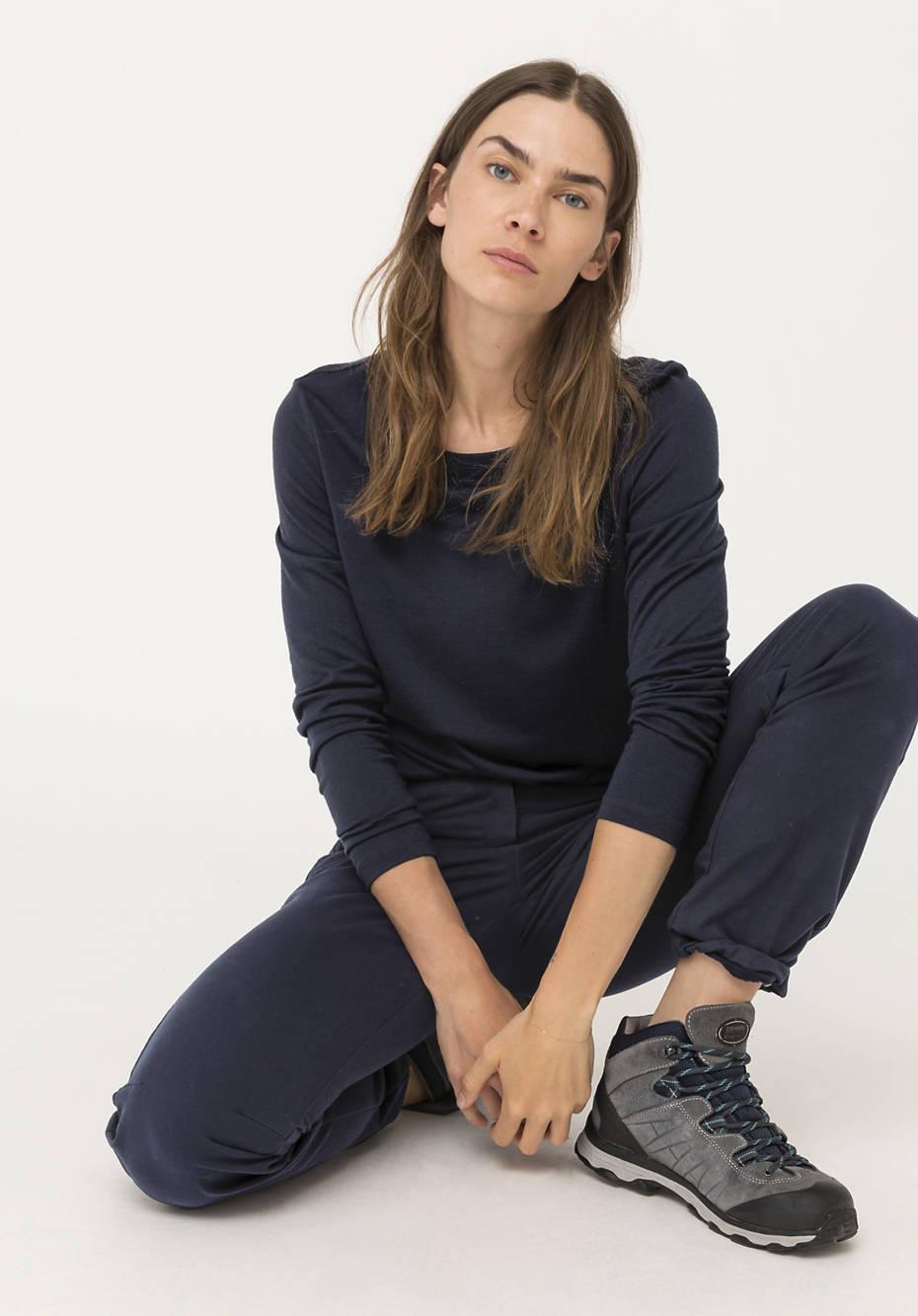 Langarmshirt aus reiner Merinowolle