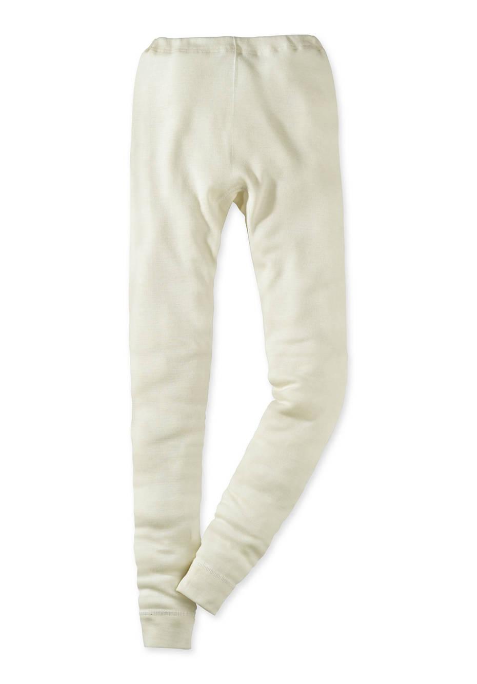 Lange Unterhose aus Bio-Merinowolle mit Seide