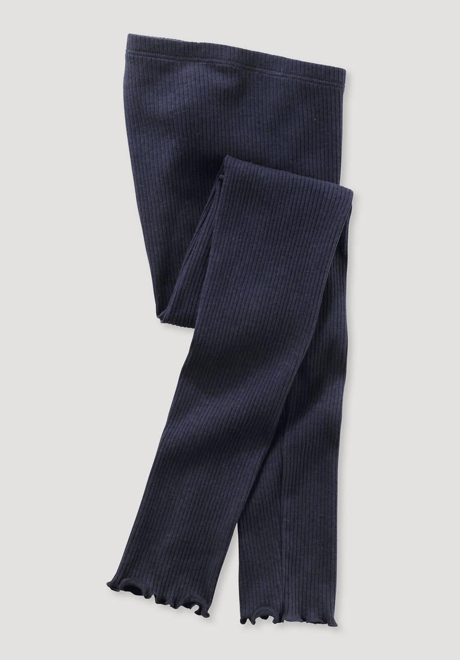 Leggings made of organic cotton with organic virgin wool