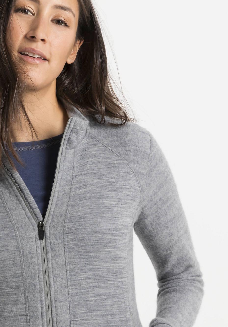 Leichte Wollfleece Jacke aus reiner Bio-Merinowolle