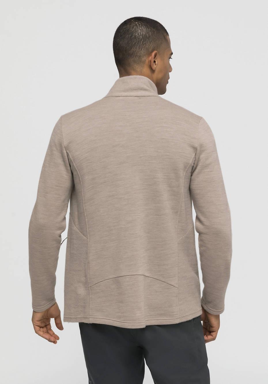 Leichte Wollfleece-Jacke aus reiner Bio-Merinowolle
