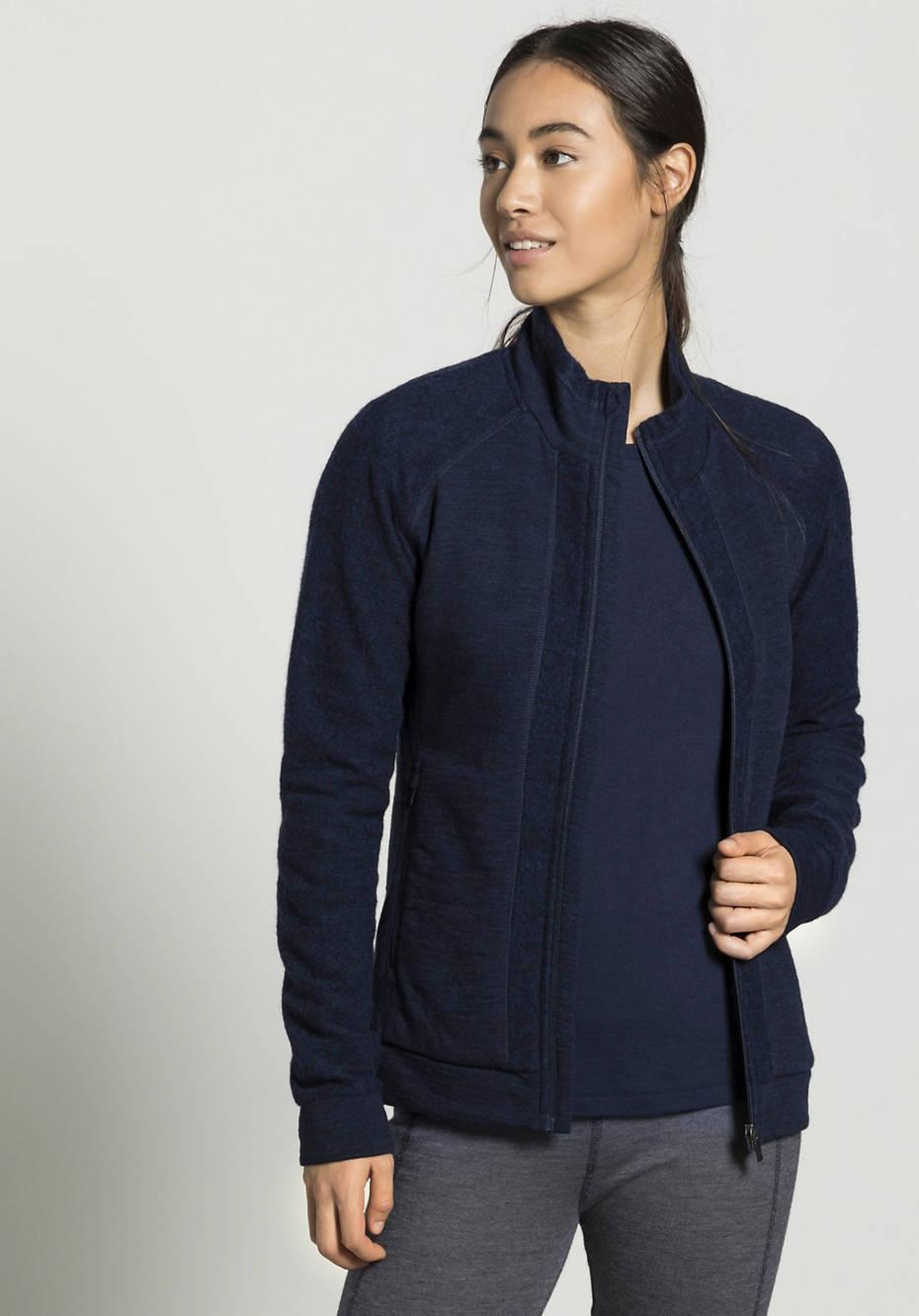 Leichte Wollfleece Jacke für Damen aus reiner Bio-Merinowolle