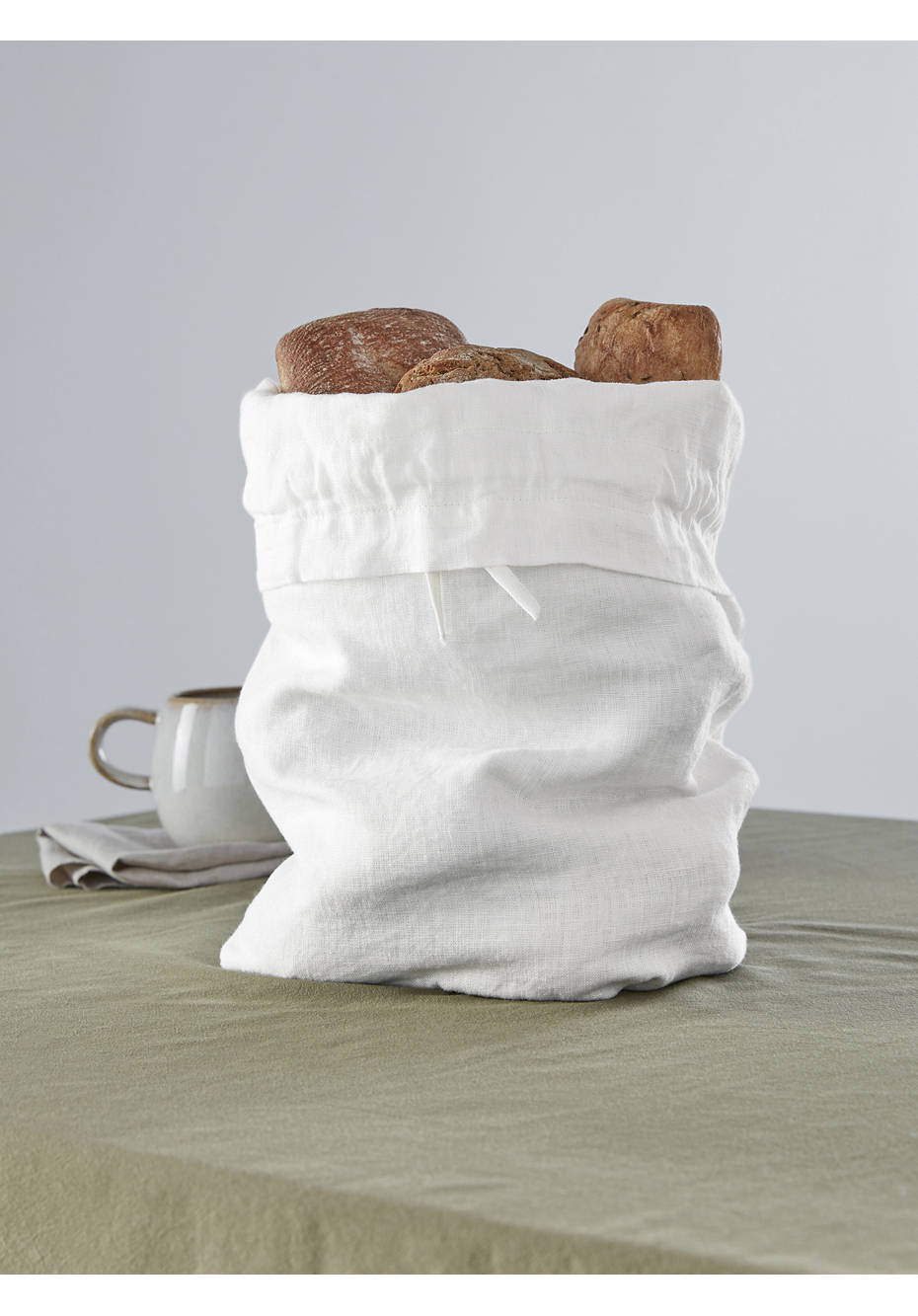 Leinen-Brotbeutel