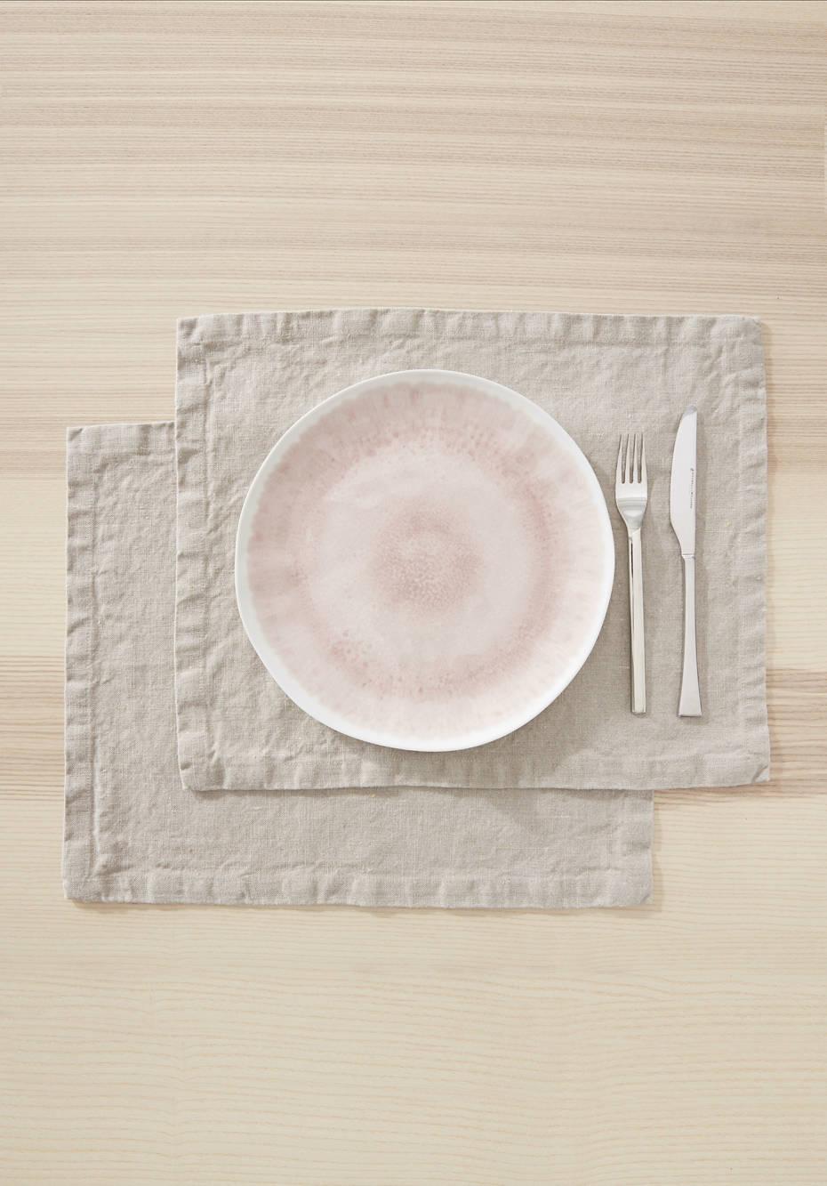 Leinen-Tischset
