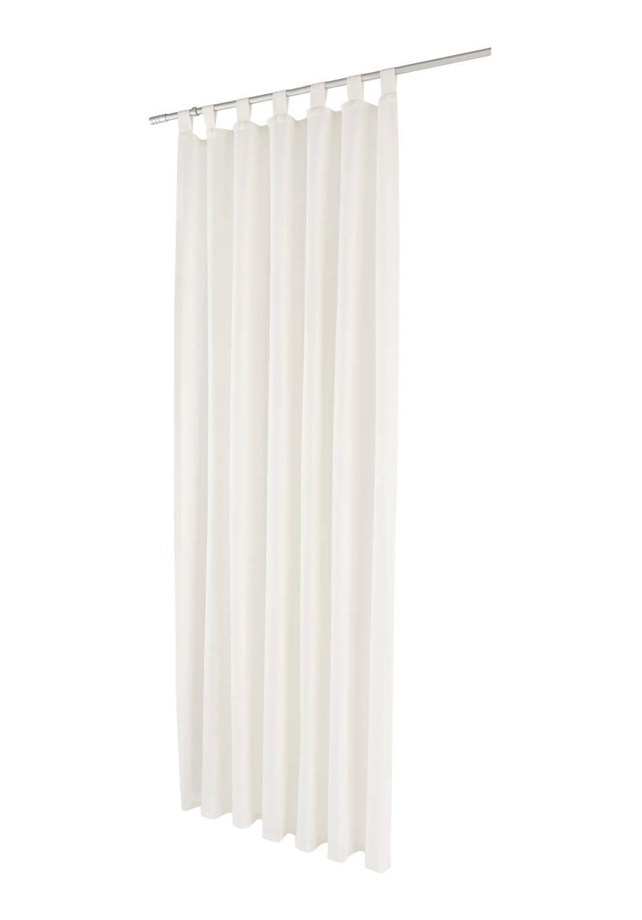Leinen-Vorhang mit Schlaufen