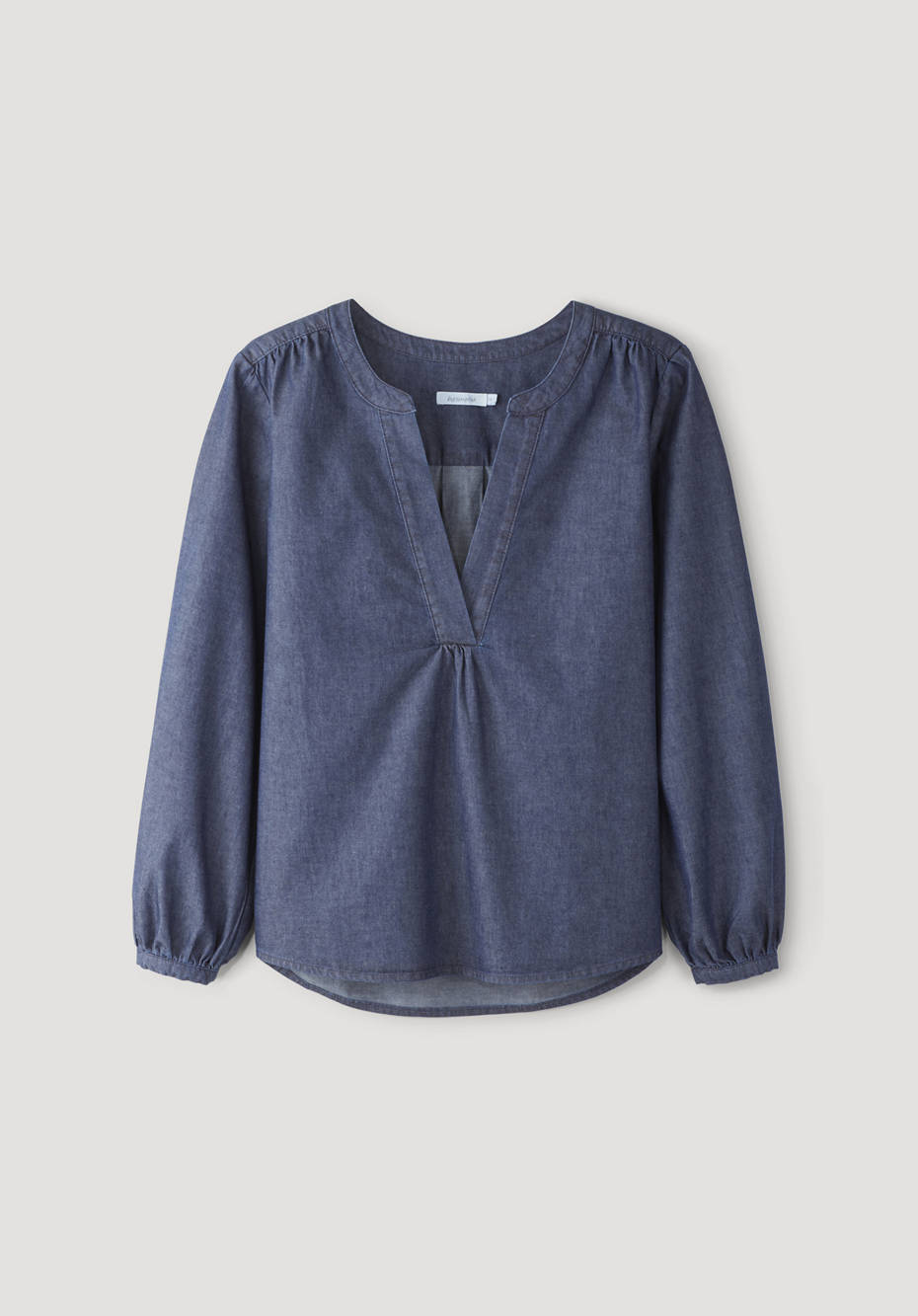 Light Denim Bluse aus reiner Bio-Baumwolle