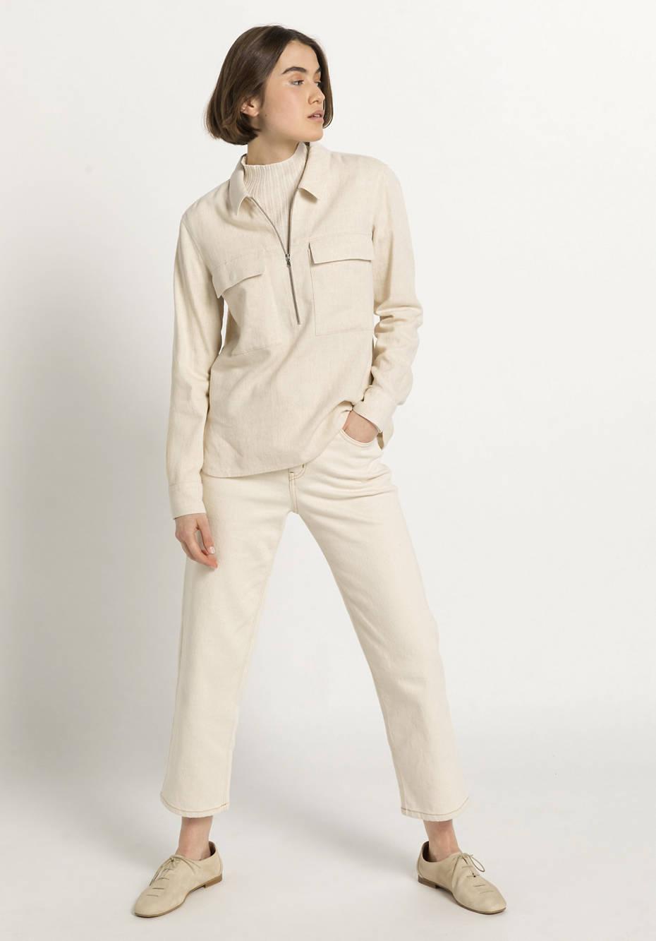Limited by Nature Pullover aus Seide mit Baumwolle