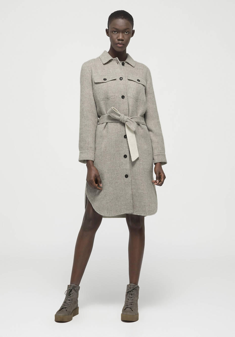 Limited by Nature coat made of new wool with alpaca