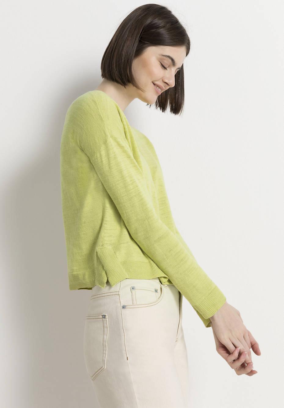 Linen cardigan with organic cotton