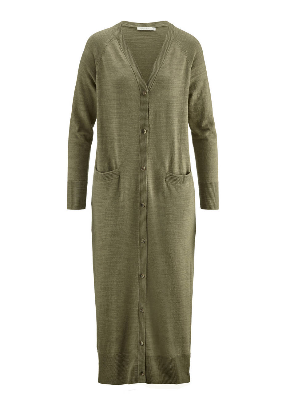 Linen knitted coat with organic cotton