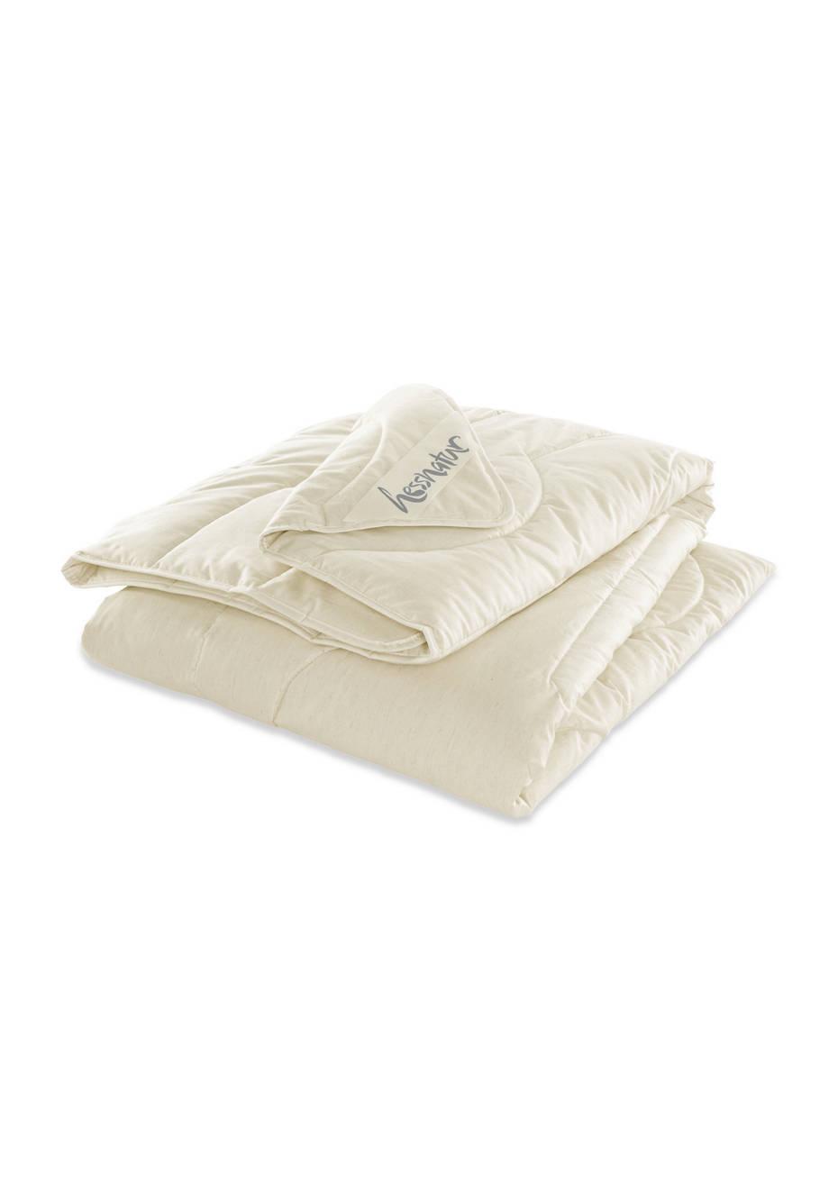 Linen summer blanket with organic cotton