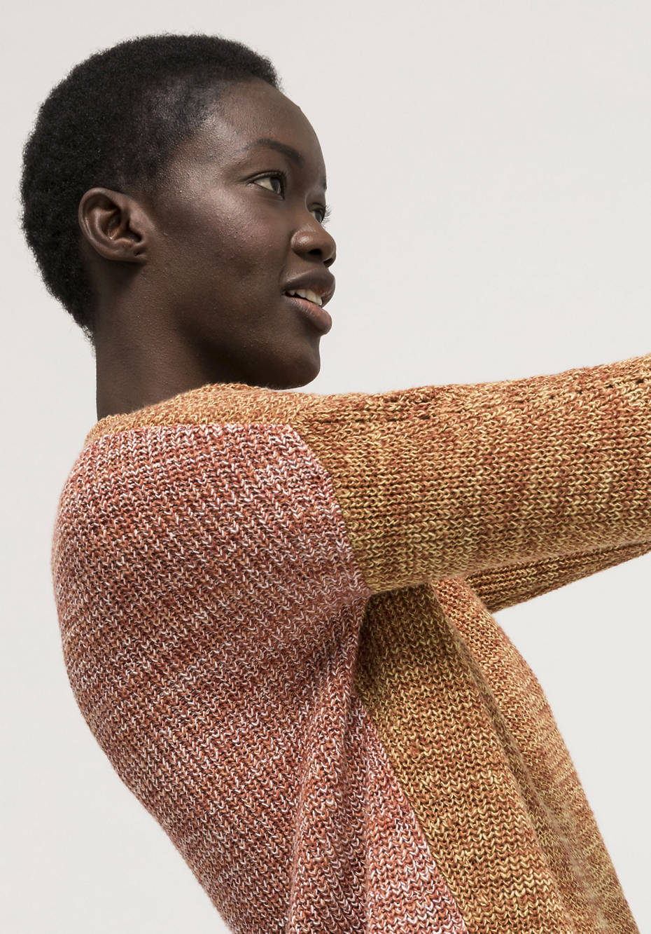 Linen with cotton sweater