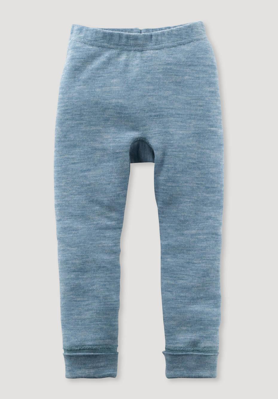Long johns made of pure organic merino wool
