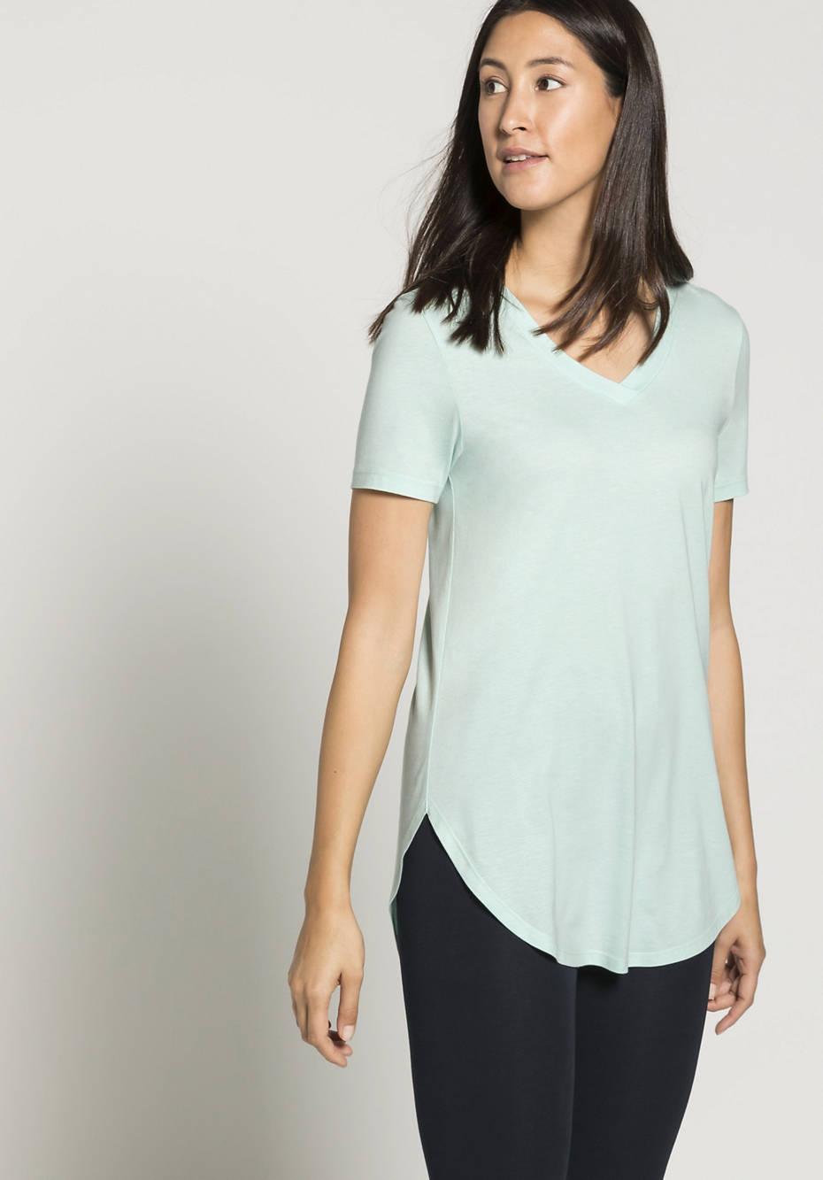 Long shirt made of organic cotton and TENCEL ™ Modal
