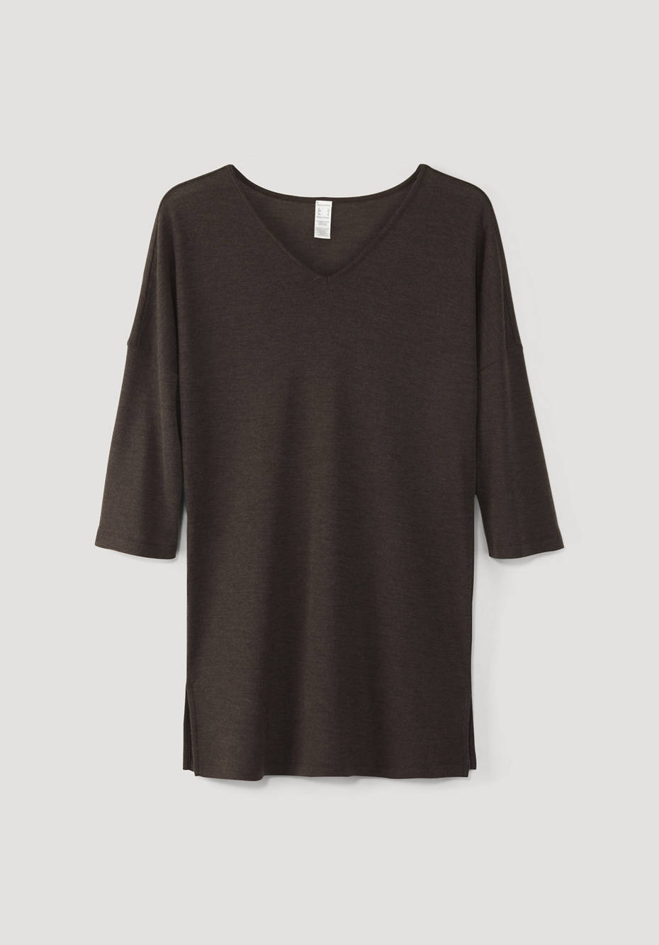 Long shirt made of pure organic merino wool