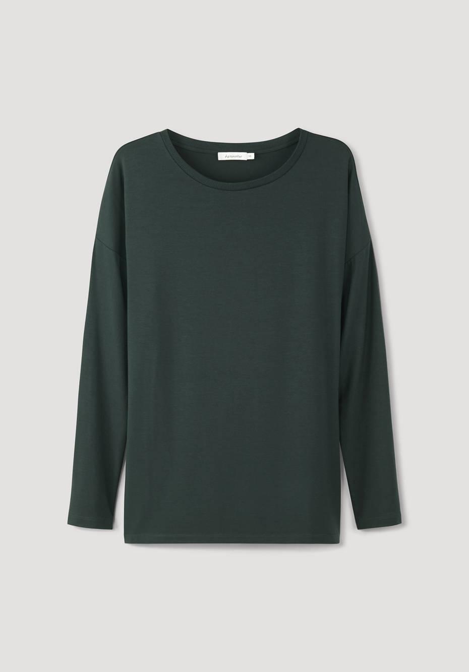 Long-sleeved shirt made from Tencel ™ Modal