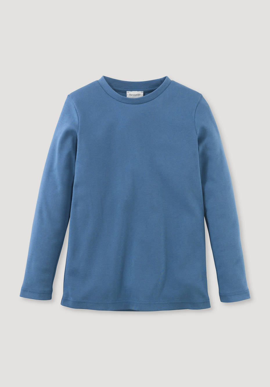 Long-sleeved shirt made from pure organic cotton