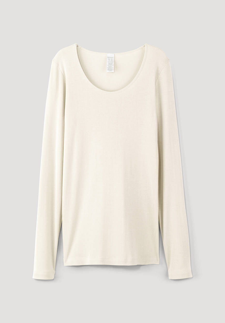 Long-sleeved shirt made of silk with organic cotton
