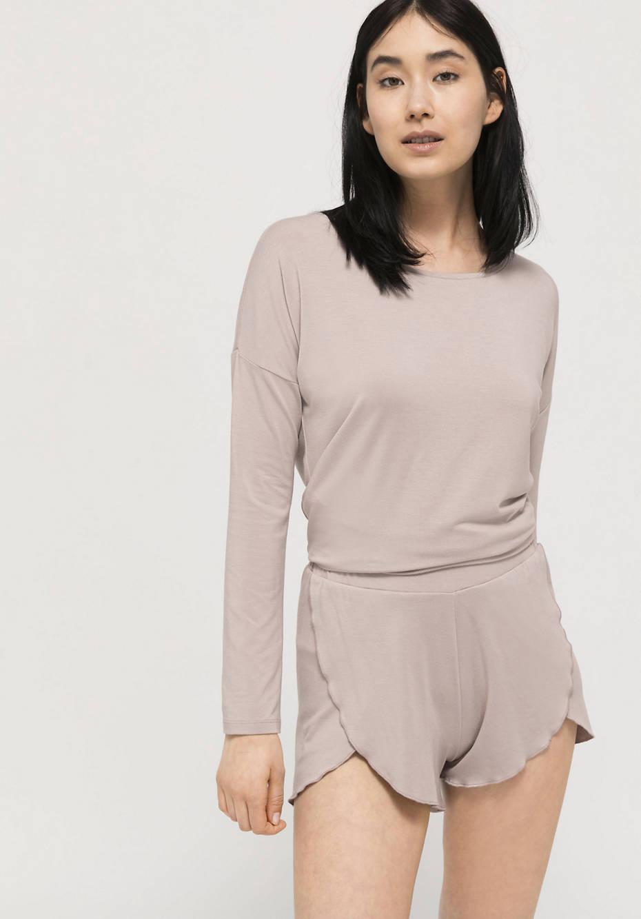 Long-sleeved sleep shirt made of TENCEL ™ Modal