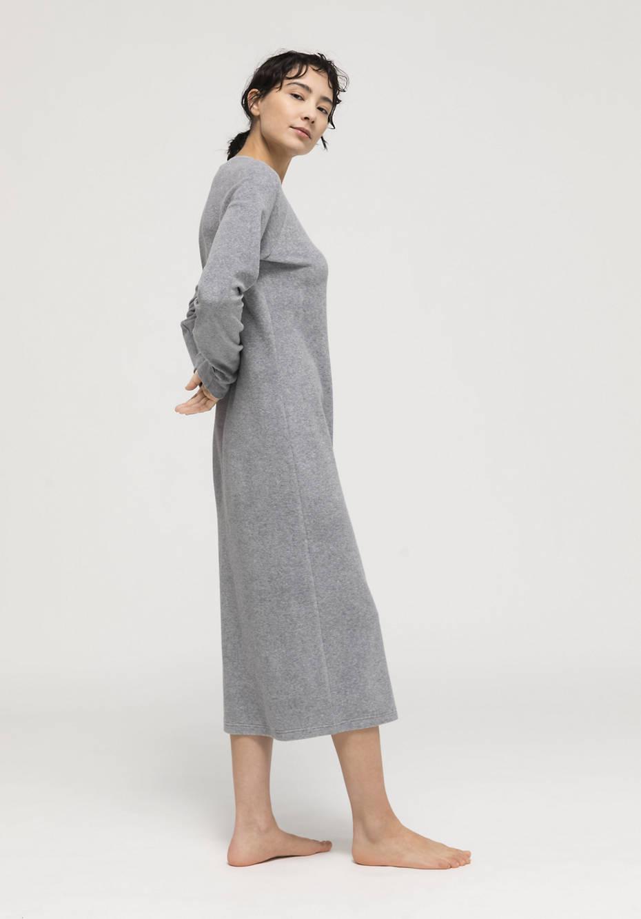 Long terry nightdress made of pure organic cotton