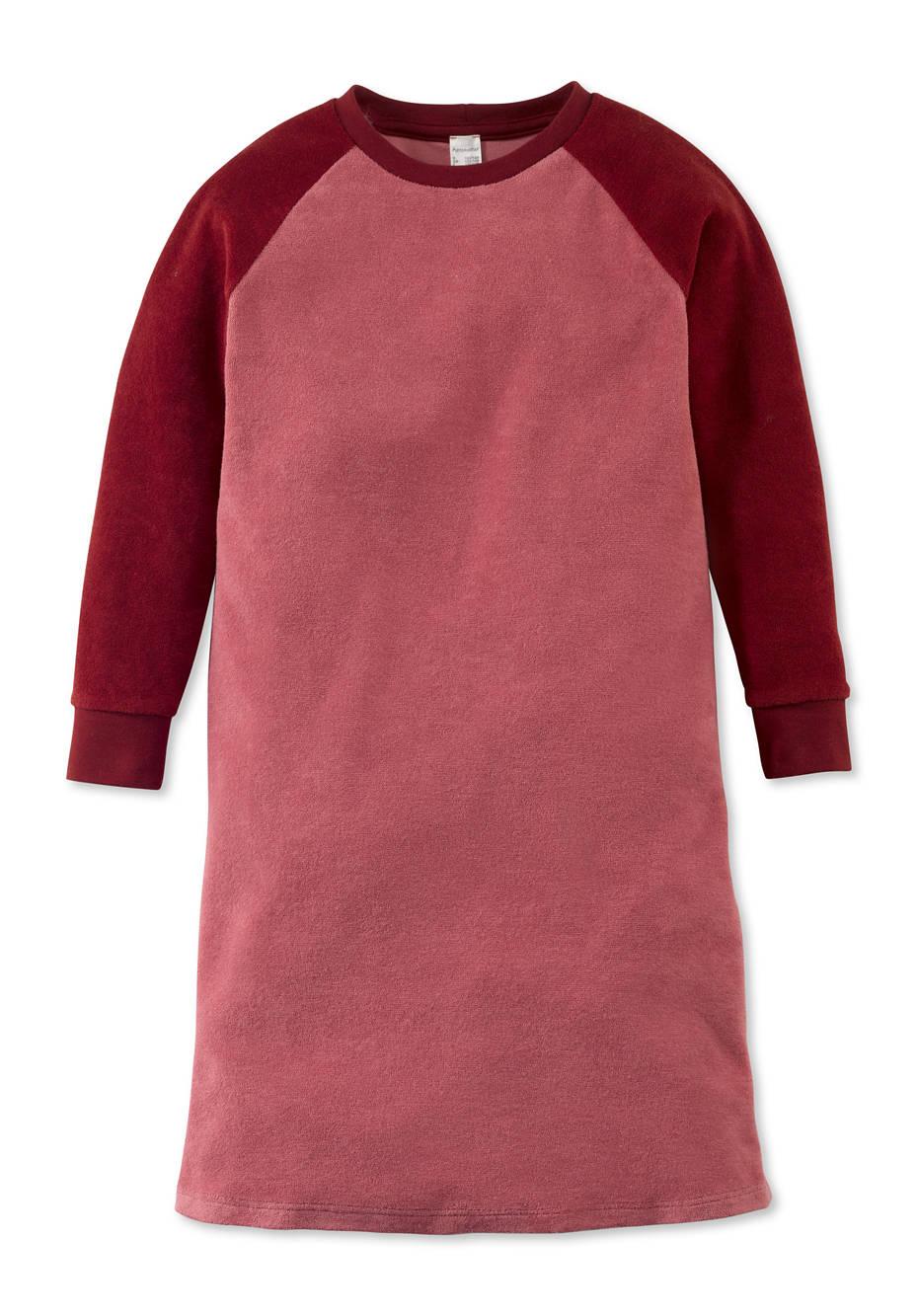 Mädchen Frottee Nachthemd aus reiner Bio-Baumwolle