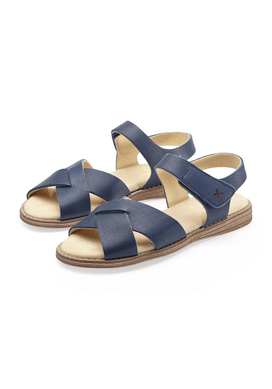 Mädchen Leder-Sandale