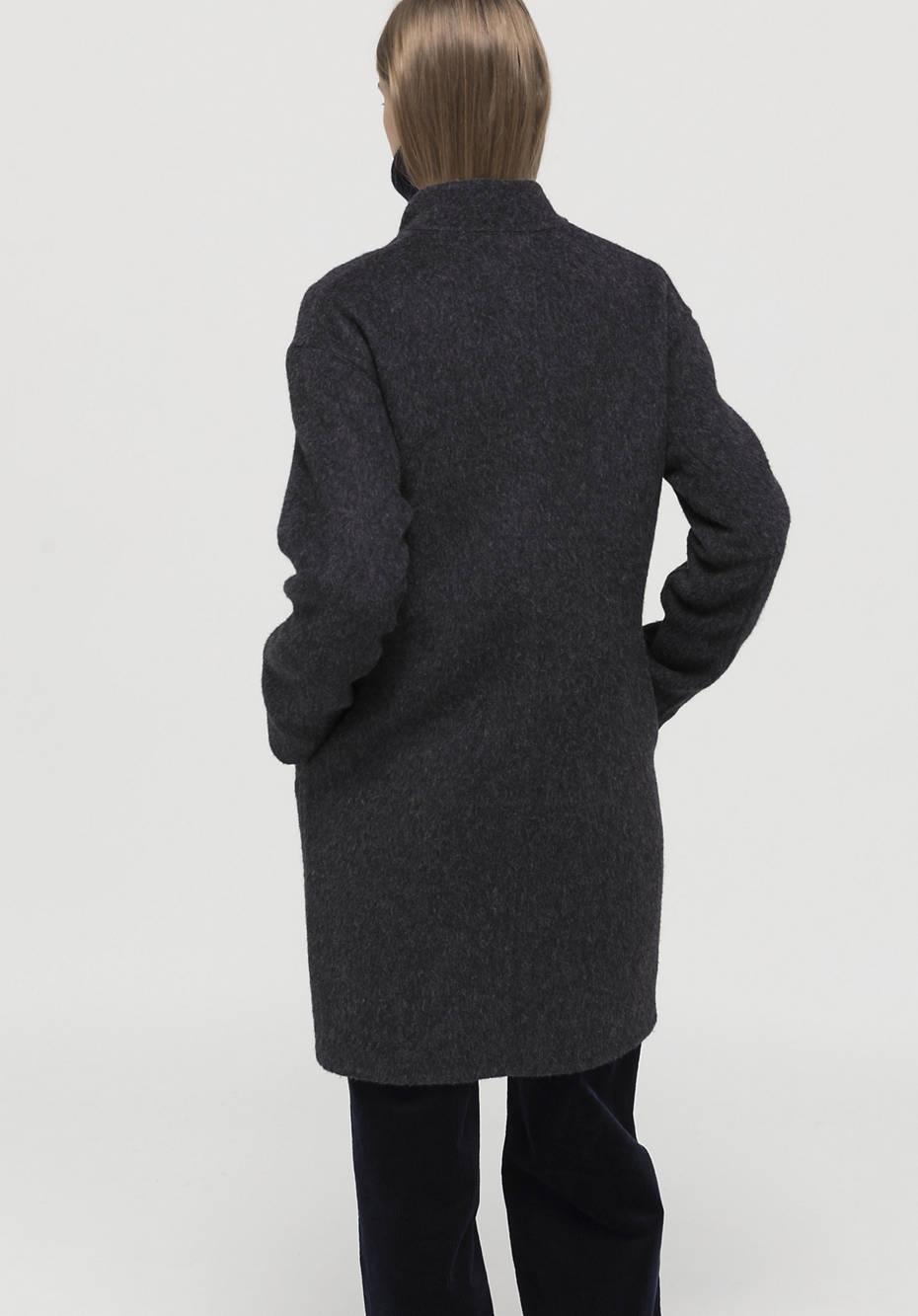 Mantel aus Alpaka mit Schurwolle