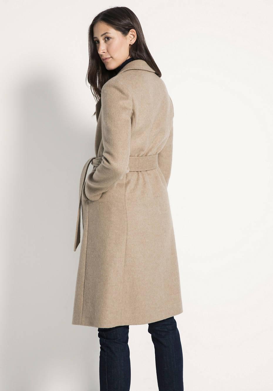 Mantel aus Kamelhaar mit Seide
