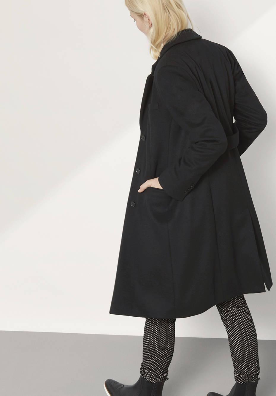 Mantel aus Merinowolle mit Kaschmir