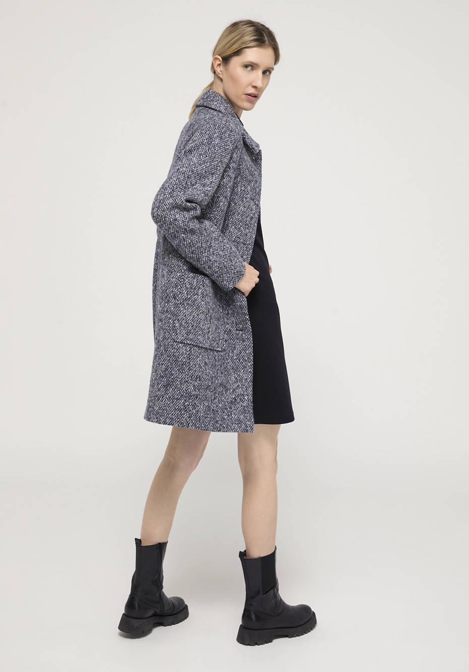Mantel aus reiner Merinowolle