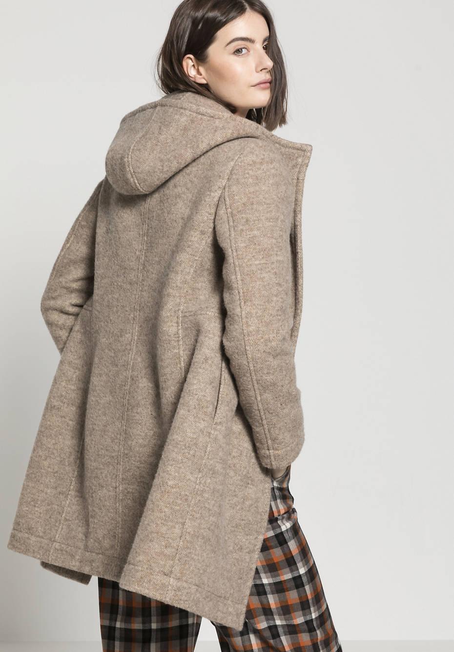 Mantel aus reiner Schurwolle vom Rhönschaf
