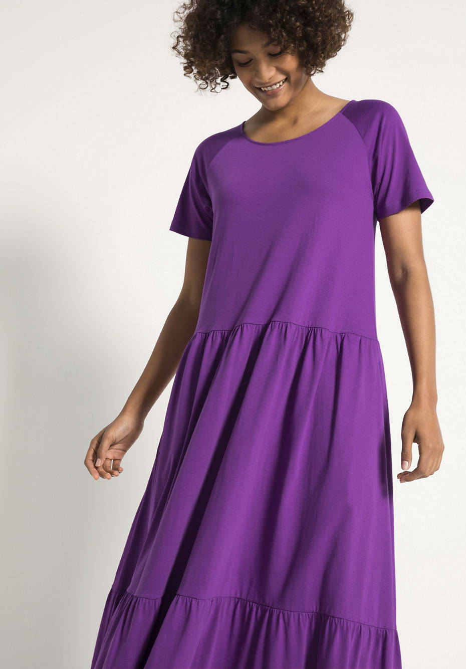 Maxi-Kleid aus reiner Bio-Baumwolle
