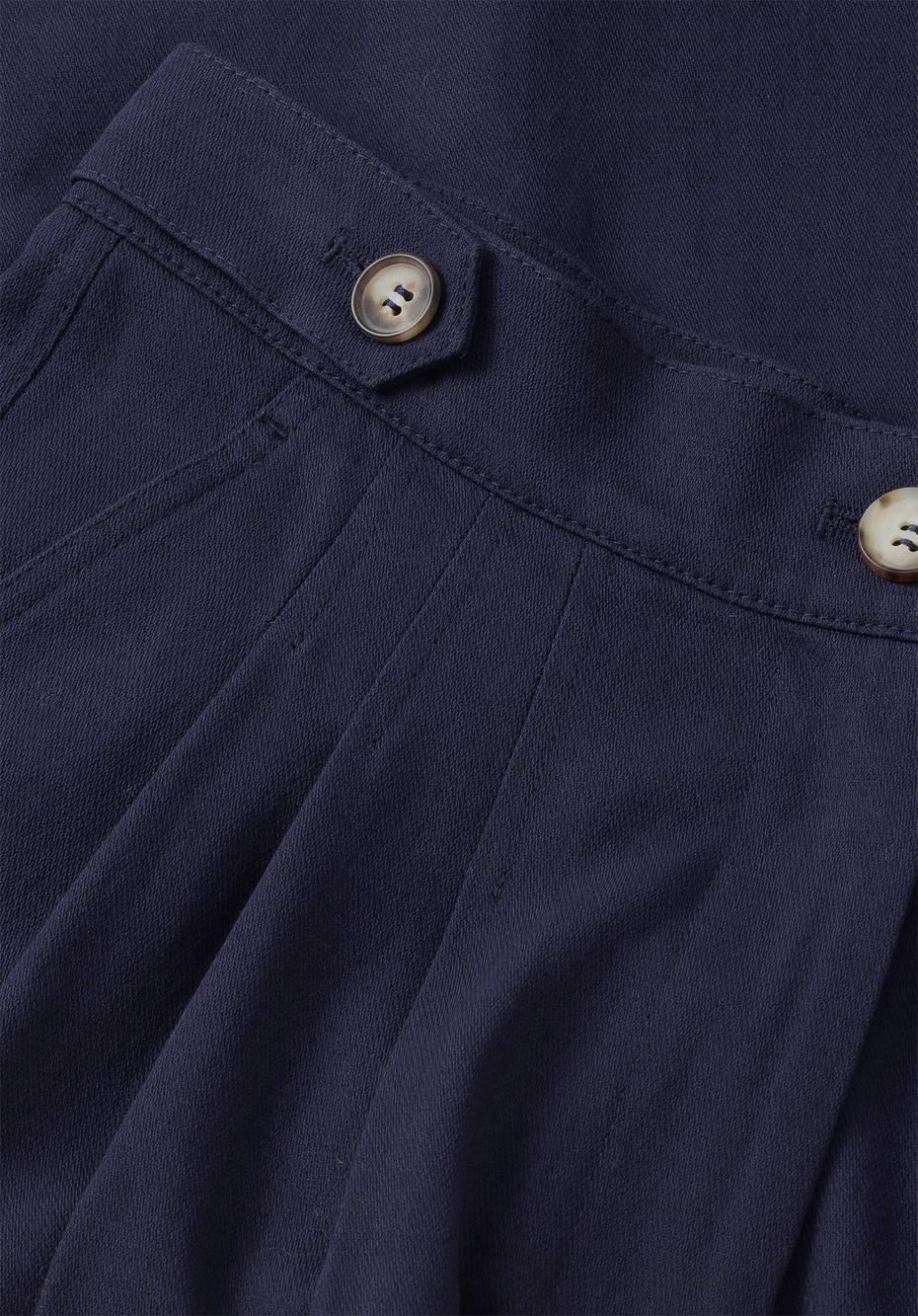 Midi culottes made of pure organic cotton