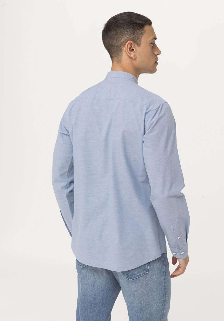 Modern fit shirt made of organic cotton with hemp and yak